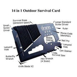 14 in 1 Umbrella Rope Card Tool - Uber Survival