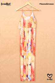 Robe longue multicolore H&M