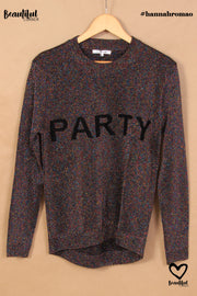 "Pull à paillettes inscription ""Party"" #collectionIRL"