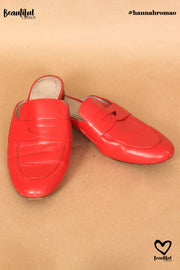 Mules rouge vif Boden