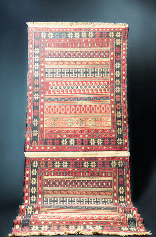 "Set of 2, Soumak Persian Rug 40"" X 32"""