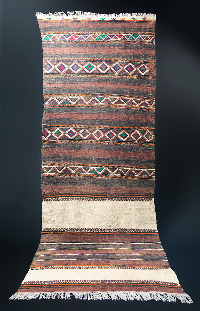 "Turkish Kilim Rug 67"" X 28"""