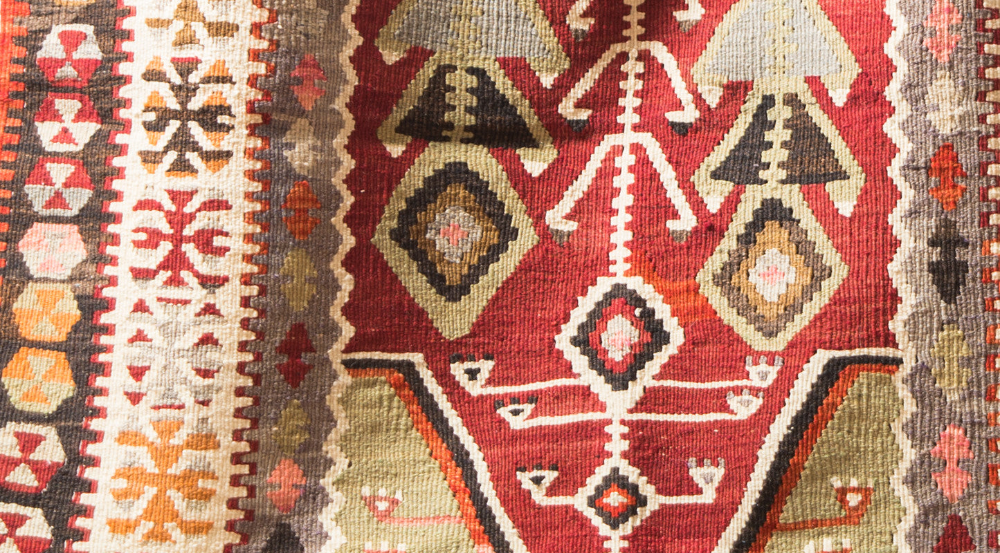 "Turkish Kilim Rug 63"" X 42"""