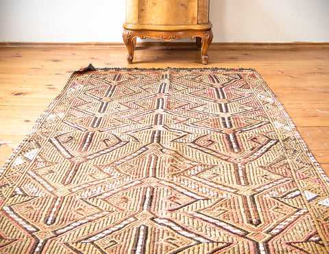 "Turkish Kilim Rug 57"" X 39"""