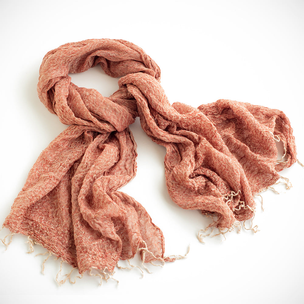 Handwoven Natural Wool Scarf