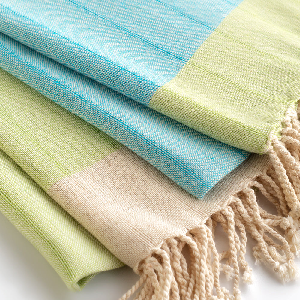 Set of 2 Peshtemal Towels 100% Natural Cotton
