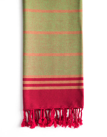 Striped Pure Natural Cotton Turkish Towel, Antique Loom