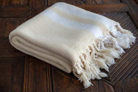 Thick Peshtemal Towel 100% Natural Cotton