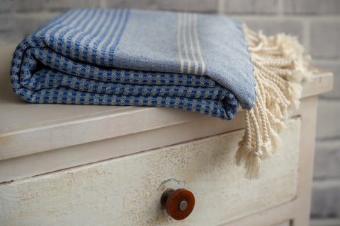 Striped Peshtemal Towel 100% Natural Cotton