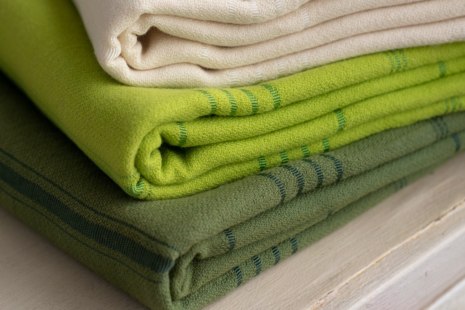 Set of 3 Natural Cotton Peshtemals