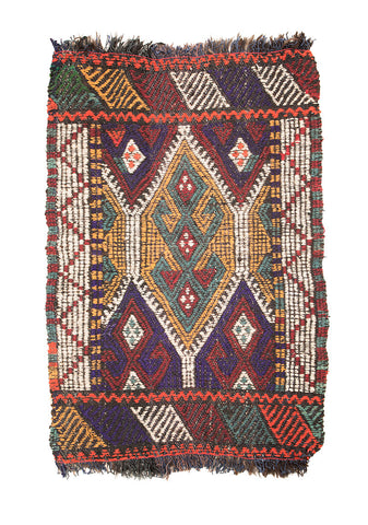 "Cicim Turkish Rug 39"" X 25"""