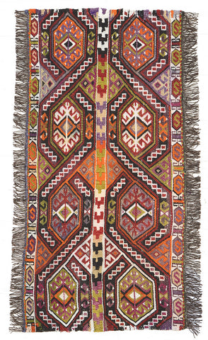 "Turkish Kilim Rug 47"" X 26"""