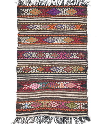 "Kilim Turkish Rug 51"" X 30"""