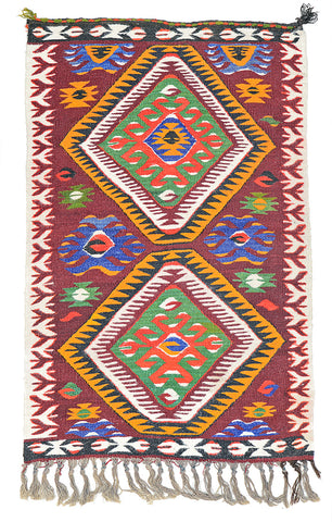"Kilim Turkish Rug 51"" X 31"""