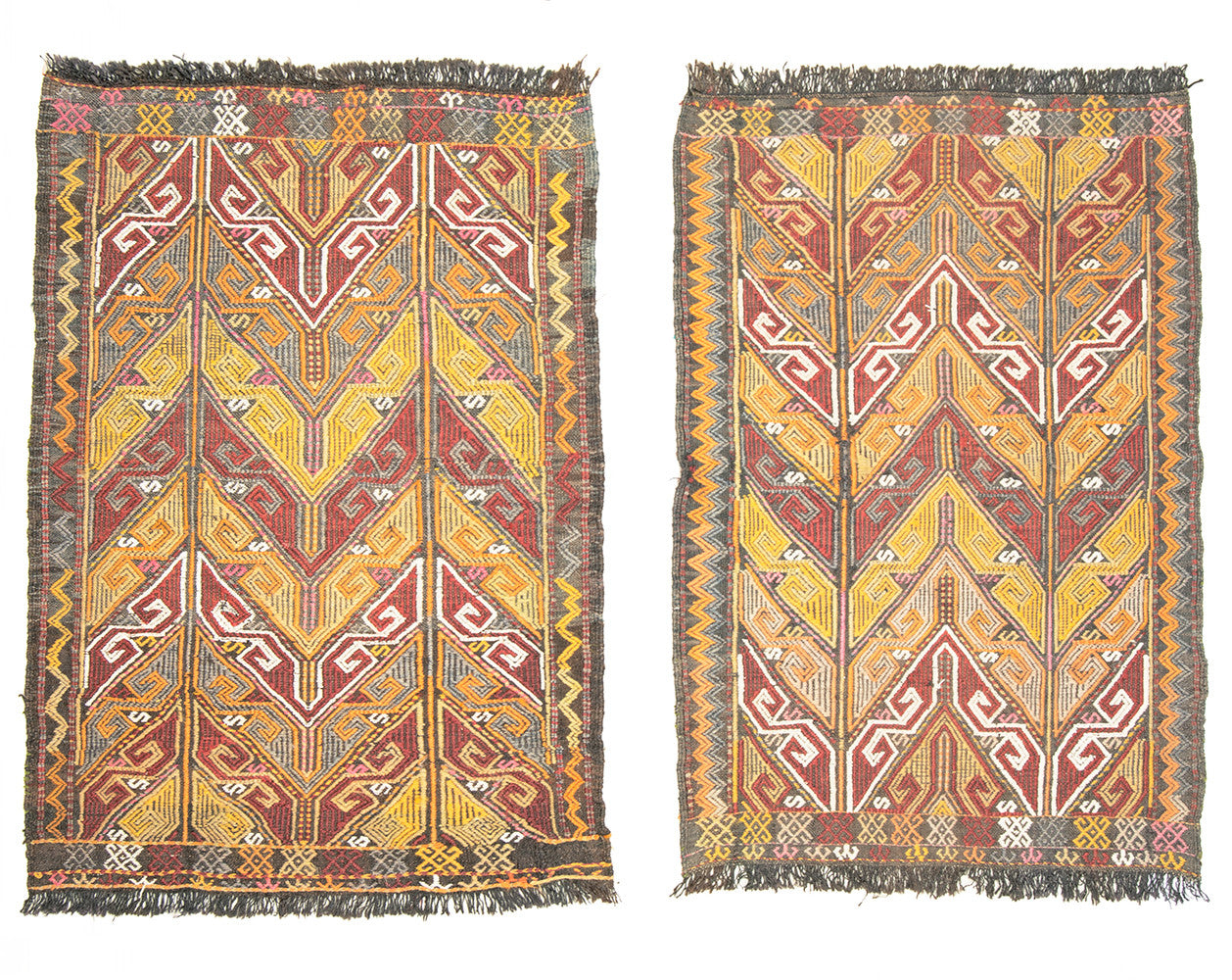 "Set of 2 Kilim Turkish Rug 37"" X 25"""