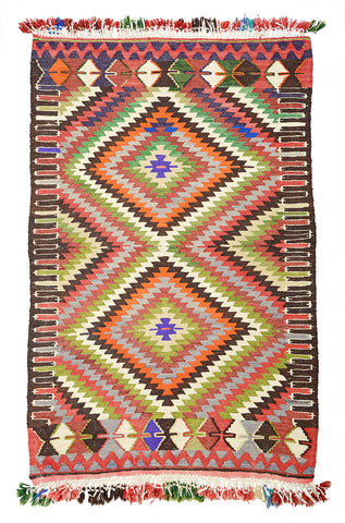 "Turkish Kilim Rug 59"" X 36"""