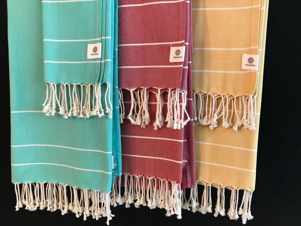 Big Set of 6 Peshtemal & Peshkir Towels 100% Natural Cotton