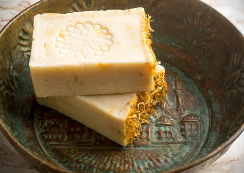 Traditional Calendula Soap with Organic Olive Oil