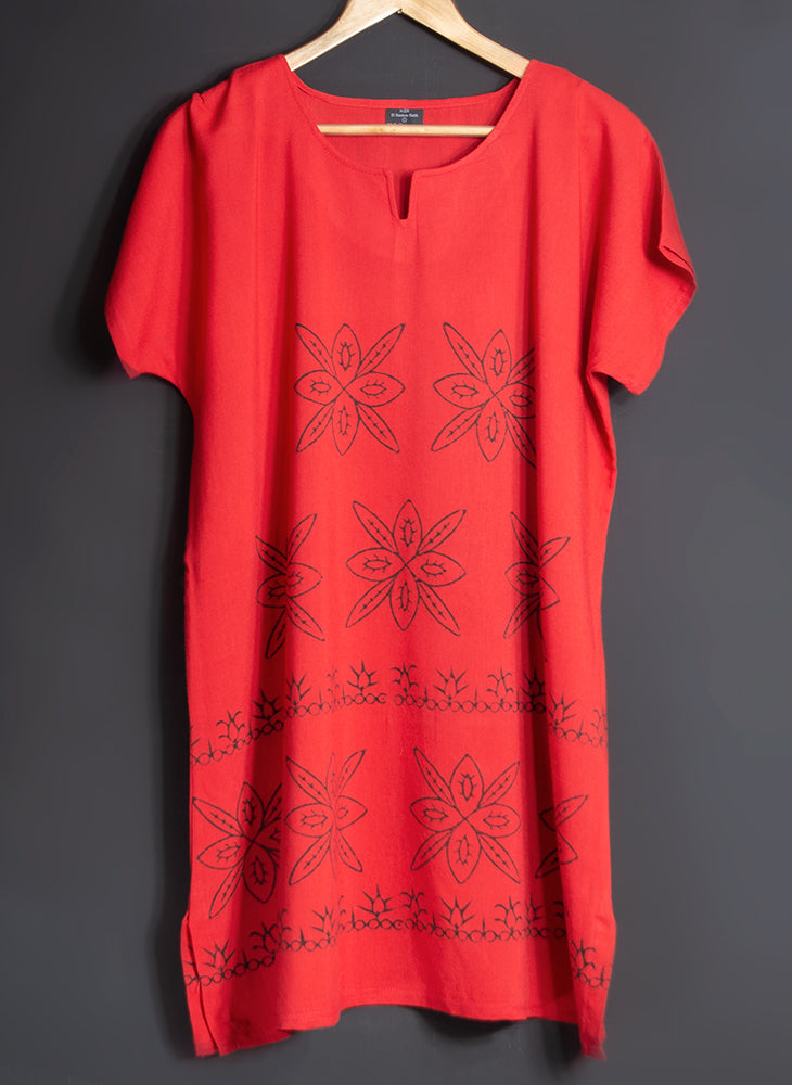 100% Cotton Beach Dress - Hand Block Printed