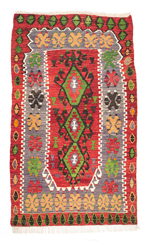 Kilim Rug / Turkish - Anatolian / Wool / 180 X 100 cm