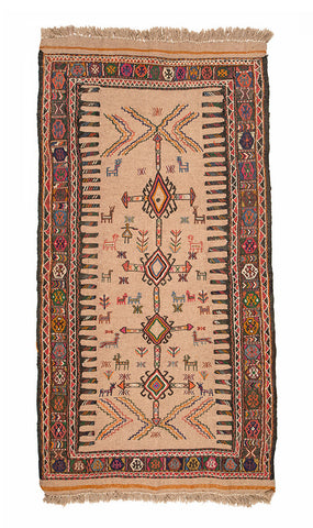 "Turkish Kilim Rug 79"" X 39"""