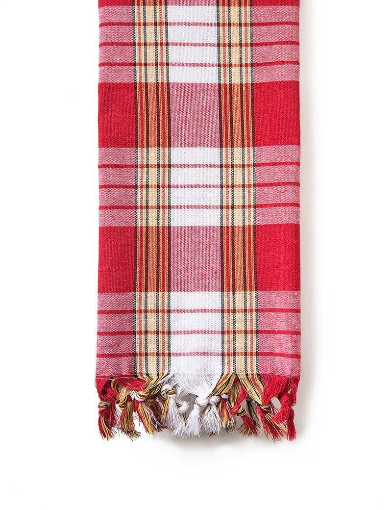 Turkish Bath Towel, Authentic Peshtemal Towel in Classic Red Tartan Design, Spring Sale 50% Off, Gift for her