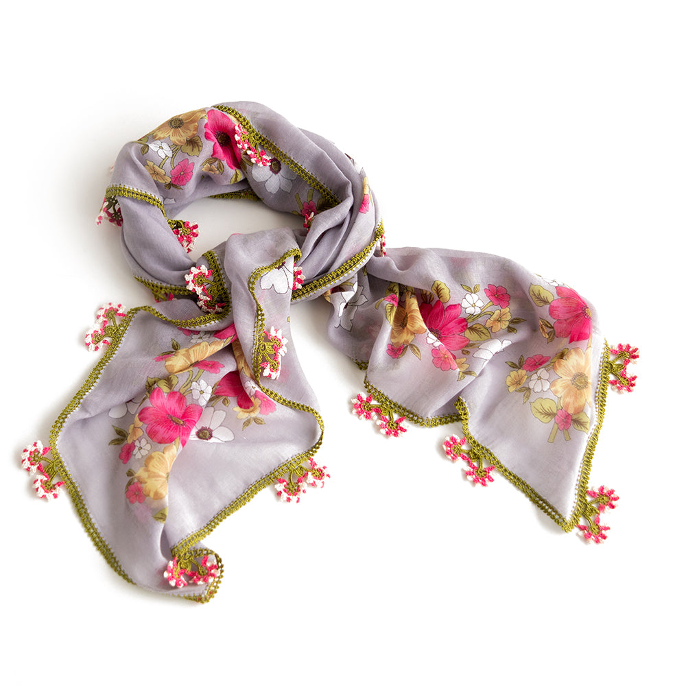 Yemeni Scarf - Silk & Cotton