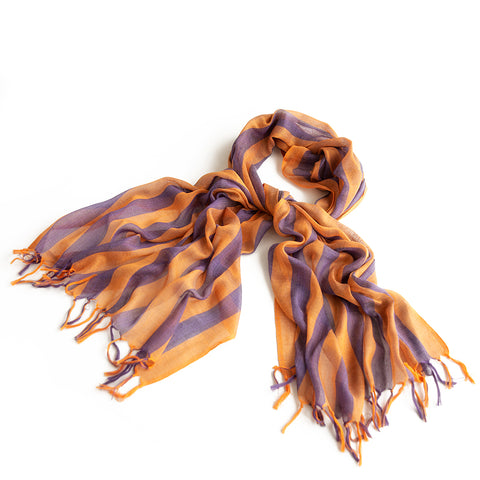 Handwoven Natural Linen Scarf