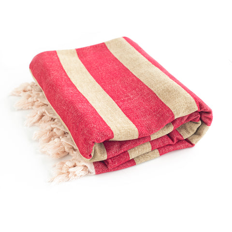 "Linen & Cotton Throw Blanket 83""x57"""