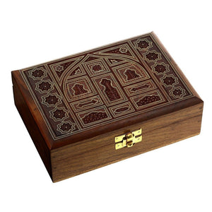 Rosewood Ring Bearer Box with Hand Made Design