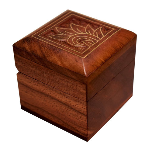 Indian Hand Engraved Solid Wood Box