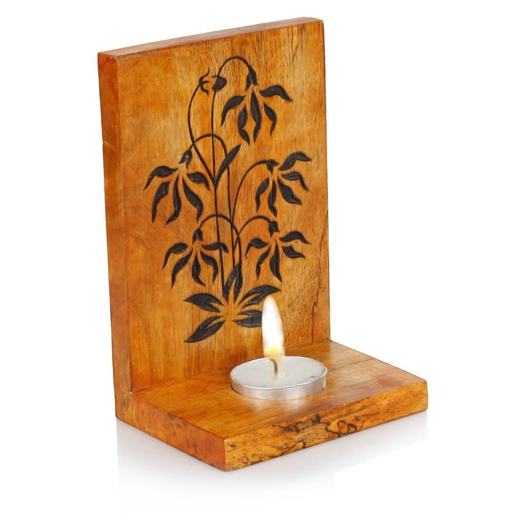 Handcrafted Wood Tealight Candle Holder