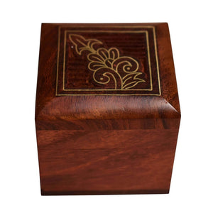 Handicrafted Small Ring Box Wood