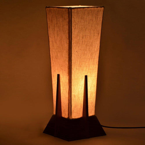 Sheesham Wood Table Lamp | 14 inch | Brown