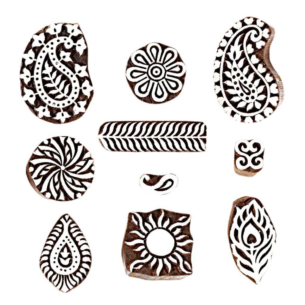 Wooden Stamps for Tattoo Making Arts