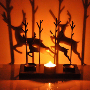 Traditional Decorative Shadow Tealight Candle Holder-Tealight Candle Holder-Hashcart