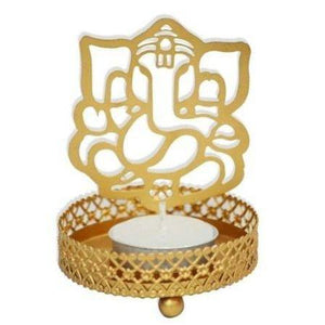 Traditional Ganesh Ji Shadow Tealight Candle Holder-Tealight Candle Holder-Hashcart