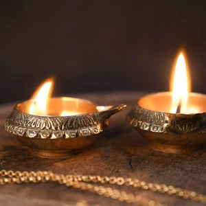 Brass Oil Lamp Diya