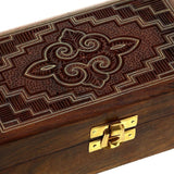 Sheesham Wood Storage Box with Handmade Brass Wire Inlaid Design