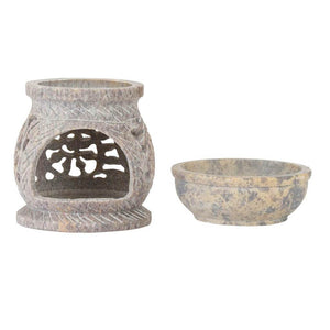 Soapstone Oil Diffuser & Tealight Candle Holder