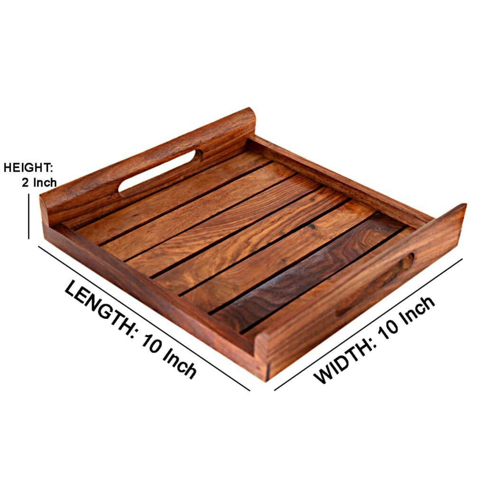 Handmade Sheesham Wood Serving Tray