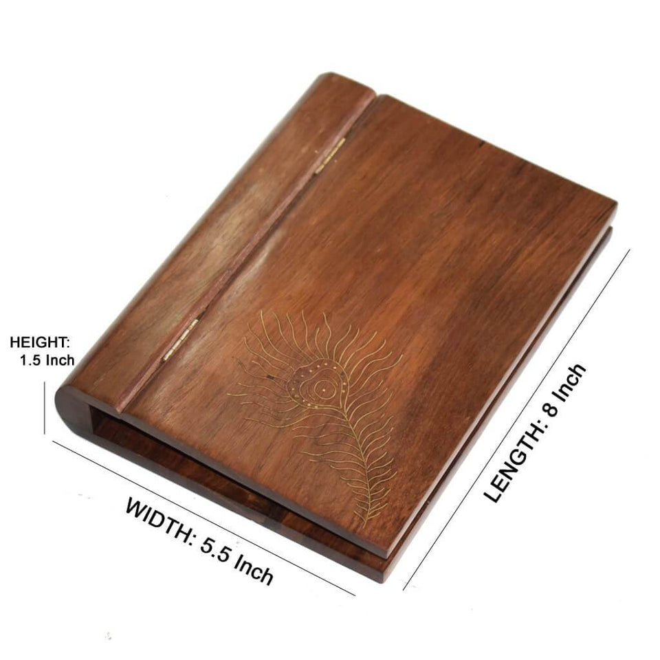 Sheesham Wood A5 Paper Size Clip Board With Inlay Work