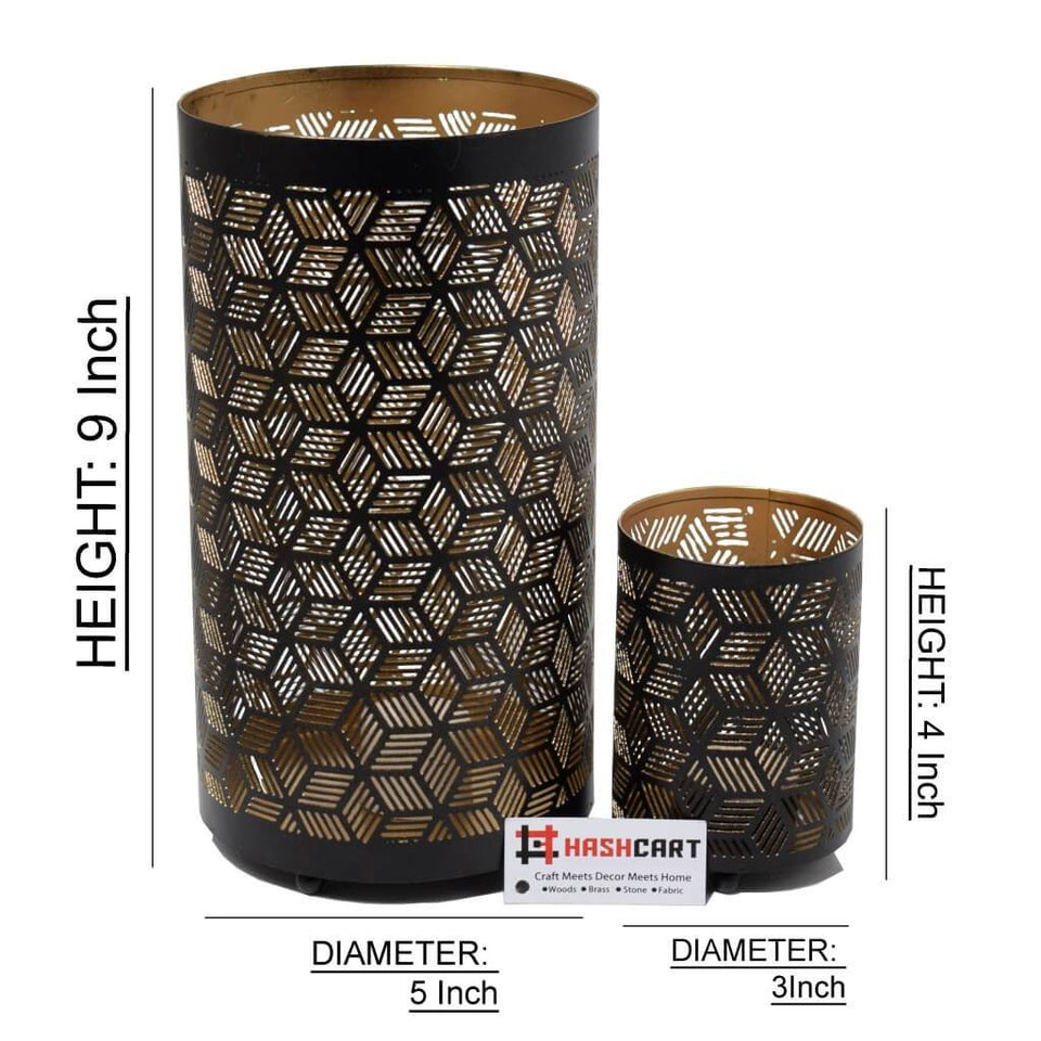 Decorative Votive Tealight Holder for Home Decor (Set of 2)