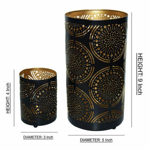 Designer Votive Tealight Holder for Home Decor (Set of 2)