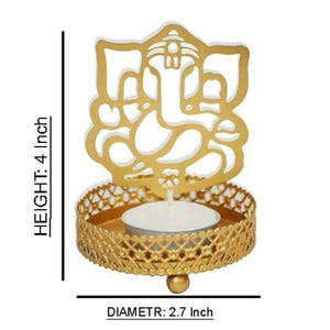 Traditional Ganesh Ji Shadow Tealight Candle Holder