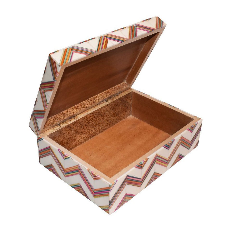 Colorful Wooden Trinket Box