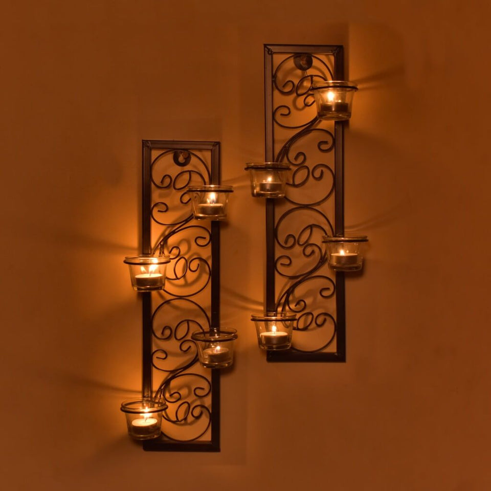 Metal Tealight Candle Holder (Set of 2)