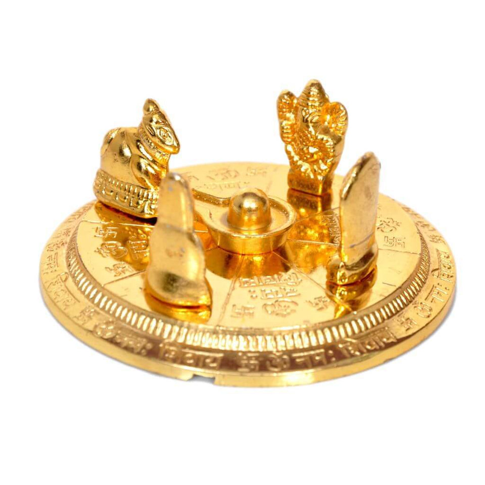 Gold Plated Shiv Parivar with Shivling