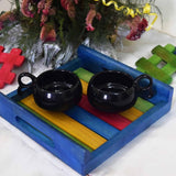 Colorful Wooden Serving Tray ( 8x8 inch)