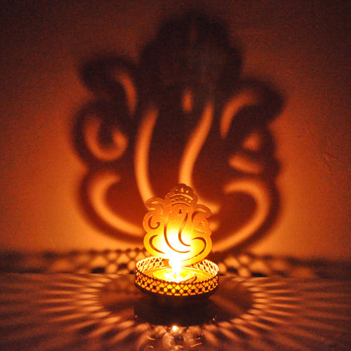 Ganesh Ji Shadow Tealight Candle  Holder For Home Decor